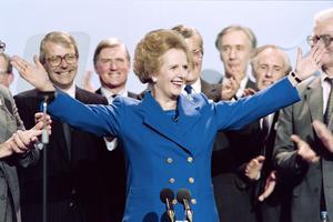 Margaret Thatcher en 1989.