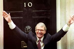John Major en 1992.