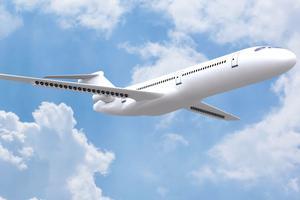 Le concept Dragon, un avion au nouveau design propulsé par électricité distribuée. Crédit: Onera
