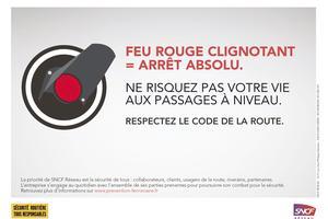 Message de la campagne de sensibilisation lancée par la SNCF.