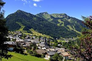 La station de Châtel, à 1.000 m d'altitude