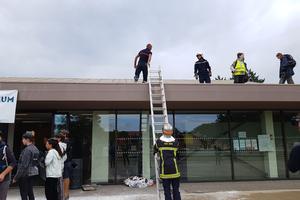 Les pompiers de Kingersheim réalisent leur entraînement lors de la «Simul'action».