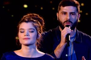Louise Combier et Don-Pierre dans «The Voice»