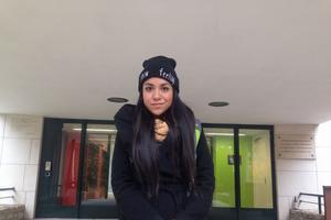 Le petit ami de Crisalida vit aux États-Unis. Selon elle, l'élection ne changera pas son quotidien. ©Louis Heidsieck