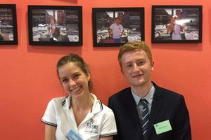 Guillaume avec Emma, une admissible en M1.