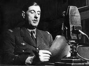 Le général de Gaulle lance l'appel aux Français à la radio BBC à Londres le 18 juin 1940.