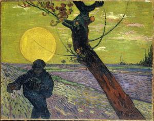 Van Gogh revient sur la figure du  <i>Semeur</i> pendant l'été 1888. À partir de cette scène de la vie paysanne, le peintre parvient à donner au tableau un sens biblique.