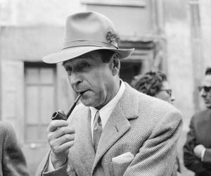 George Simenon, le 11 septembre 1957, deux ans avant la naissance de Pierre.