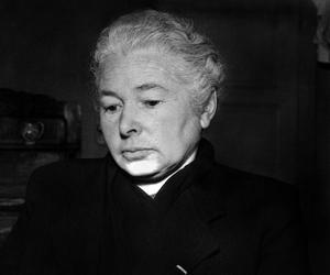 Marguerite Rouffanche unique témoin du massacre des femmes et des enfants qui eut lieu dans l'église lors de la tragédie d'Oradour-sur-Glane en juin 1944.