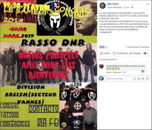 Une publication Facebook annonçant l'événement.
