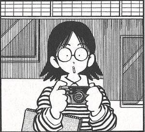 Mitsuru Adachi se plaît à se dessiner dans ses œuvres. Ici dans H2.