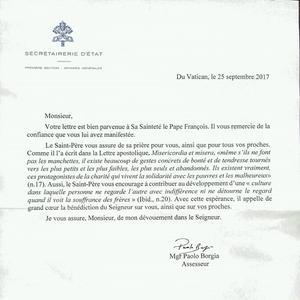 La réponse du Vatican à Matthieu.