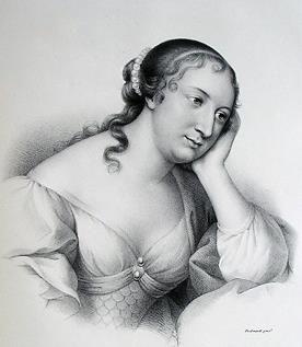 Marie-Madeleine Pioche de La Vergne, comtesse de La Fayette, d'après le graveur Desrochers.
