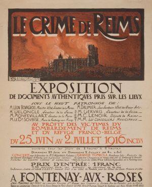Le crime de Reims. Exposition . . . au profit des victimes d
