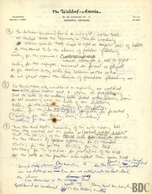 Le manuscrit de «Chimes of Freedom», chanson issue de l'album «Another Side of Bob Dylan» de 1964.
