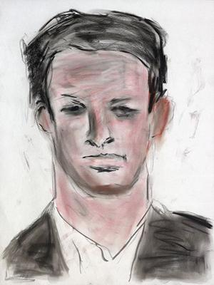 Portrait au pastel de Nick Riley, dans la série «Face Value» de Bob Dylan.