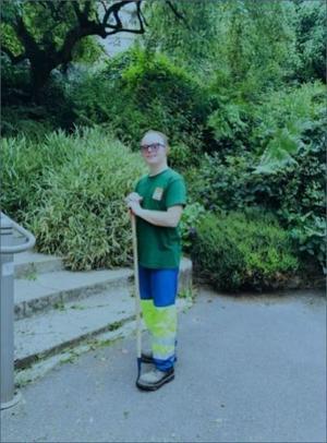 Romain Borghi, employé aux espaces verts de la ville de Bagnolet.