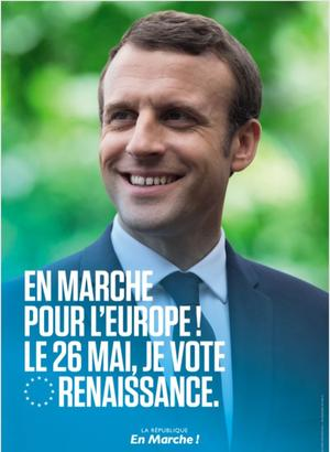 Affiche de campagne LREM