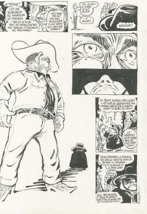 Clark Gable, en cow-boy vieillissant sous la plume de Luz.