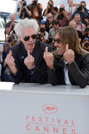 Jim Jarmusch et Iggy Pop au photo-call de Cannes.