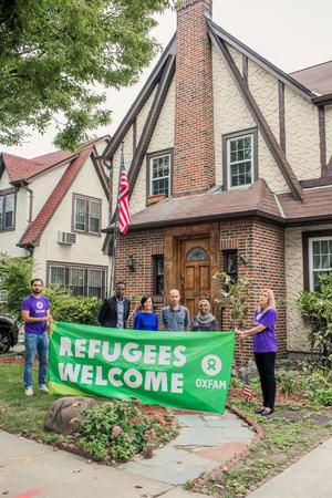 Aid agency Oxfam, invites refugees to spend the weekend at U.S. President Donald Trump's childhood home