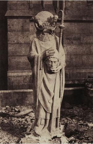 Augustin Mestral,  <i>Saint Denis céphalophore </i> (v. 1850).