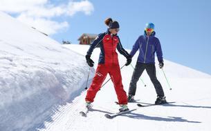 Ski de printemps: la belle saison des débutants