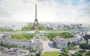 En 2024, le plus grand jardin de Paris entre le Trocadéro et la tour Eiffel