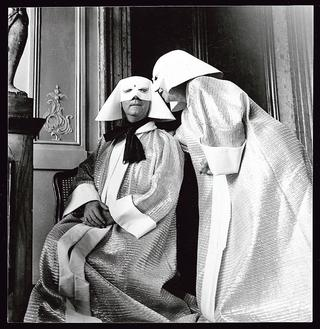 Christian Dior et Marie-Louise Bousquet au «bal du siècle», en 1951.