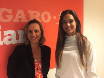 Marine Lorphelin avec Sophie de Tarlé, rédactrice en chef du Figaro Etudiant à l'issue du direct avec les internautes.