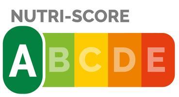 Représentation du Nutri-score tel qu'il existe en France.