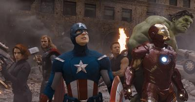Captain America pendant l'attaque de New York