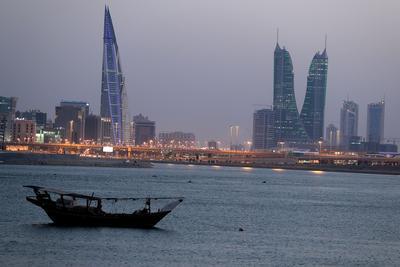 Vue du quartier financier de Manama au Bahreïn.