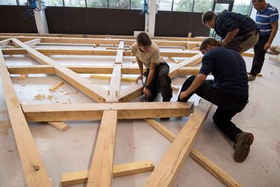 Les jeunes apprentis des Compagnons du devoir ont utilisé un logiciel 3D pour les plans.