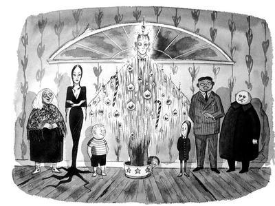 Les dessins d'origine de Charles Addams sont regroupés dans «la famille Addams - À l'origine du mythe» publié aux éditions Huginn&Muninn.