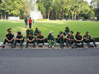 Des vétérans «Viets» au palais Norodom.