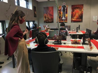 L'équipe de Pasta Madre a présenté un segment de son jeu vidéo au jury.