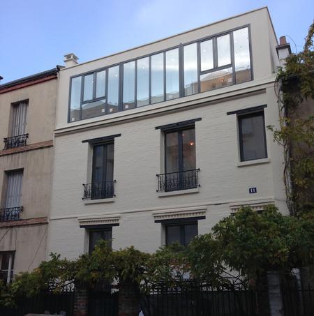 Surélévation Réalisée à Boulogne Billancourt. Crédits Photo : Finateu  Architecte