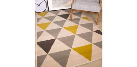 Tapis The Rug House Milan Triangles Motif Arlequin
