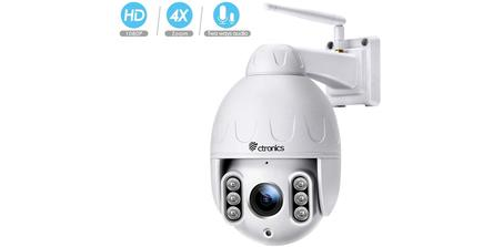 Caméra de surveillance sans fil PTZ Ctronics