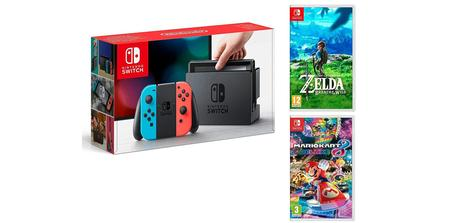 Pack Nintendo Switch + Mario Kart 8 Deluxe et Zelda Breath of the Wild