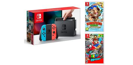 Pack Nintendo Switch + Mario Odyssey et Donkey Kong Tropical Freeze