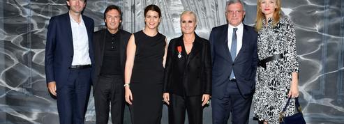 Maria Grazia Chiuri,la créatrice de Dior, décorée parMarlène Schiappa