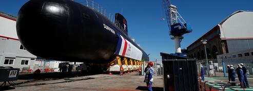 Macron lance à Cherbourg le nouveau sous-marin d'attaque