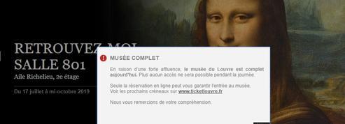 Victime de son succès, le Louvre affiche complet et refuse les visiteurs sans réservation