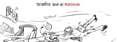 Le dessin d'Ixène: «Tempête sur le perchoir»