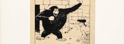 Tintin prêt à en découdre avec «King Kong» aux enchères