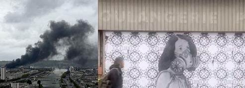 À Rouen, la catastrophe de l'usine Lubrizol inspire les street artistes