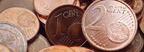 Les pièces rouges de un et deux centimes d'euro, vouées à disparaître