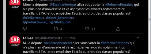 Twitter: le compte du Syndicat des avocats de France brièvement suspendu